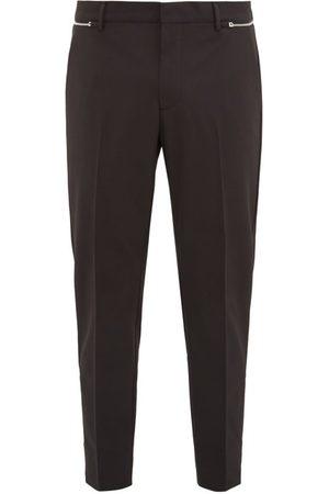 Prada Men Trousers - Zipped Technical-gabardine Trousers - Mens