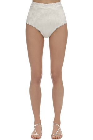 Peony Wicker High Waist Bikini Bottoms