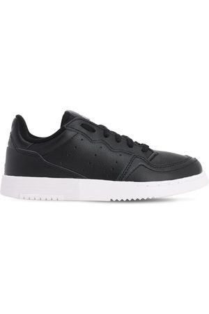 ADIDAS ORIGINALS Boys Trainers - Supercourt Leather Lace-up Sneakers