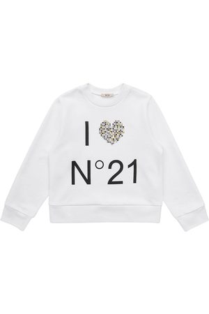 N°21 Girls Sweatshirts - Logo Print Cotton Sweatshirt