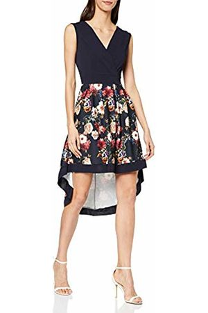Mela Women's Flower Bouquet Wrap Front High Low Dress Casual