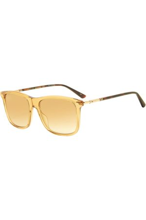 Gucci Gucci Cylindrical Web Square Frame Sunglasses