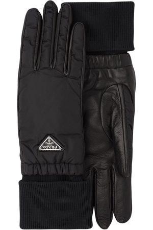 Prada Logo plaque gloves