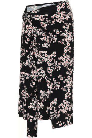 Paco rabanne Women Midi Skirts - Floral jersey midi skirt
