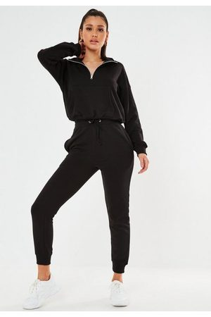 Missguided Petite Zip Front Jogger Co Ord Set