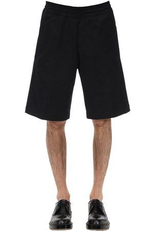 NEIL BARRETT Men Shorts - Oversize Cotton Blend Canvas Shorts