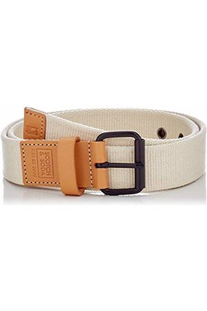 Scotch&Soda Men's Leather-Trimmed Canvas Tape Belt