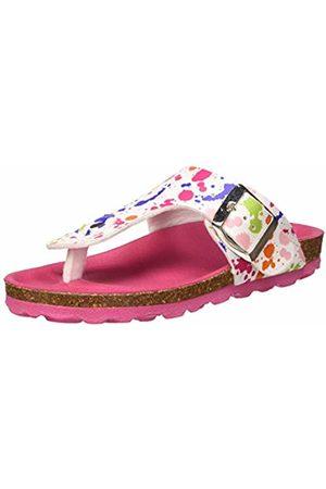 Kickers Girls' Summeriza Flip Flops, (Blanc Imprime Multicolor 32)