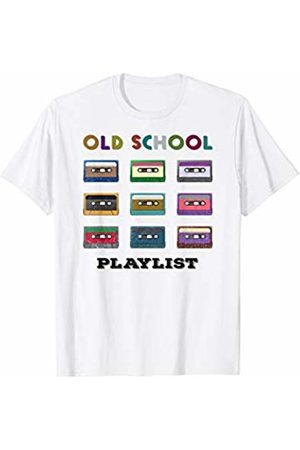 Funny Retro 80s 90s Vintage Tee Shirts Cassette Tape Old School Playlist Mixtape T-Shirt