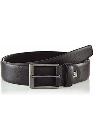 Lindenmann Mens leather belt/Mens belt, leather belt curved with structure surface, Größe/Size:110