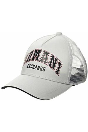Armani Men's Logo Patch Trkr-mesh Baseball Cap, (Bianco- 00010)