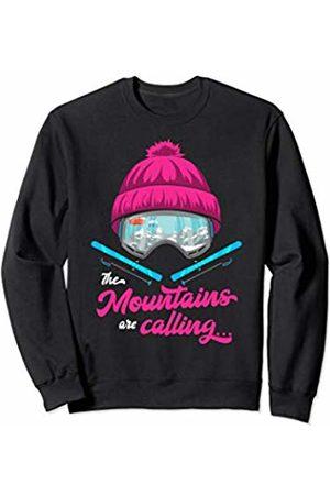 Winter sports apres ski sayings gifts outfits Mountains Are Calling Ski Goggles Skier Apres Ski Ladies Sweatshirt