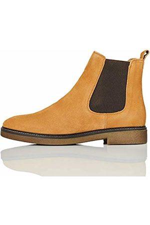 FIND Gumsole Chelsea Boots, Braun (Tan Suede)
