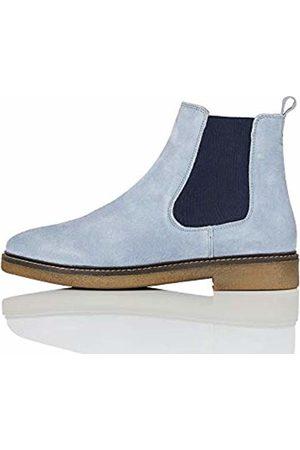 FIND Gumsole Chelsea Boots, Blau (Pale )