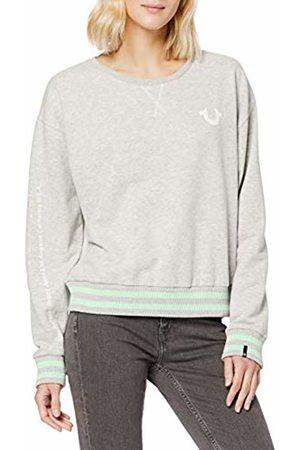 True Religion Women's Crewneck Fleece Reflective Horseshoe Sweatshirt