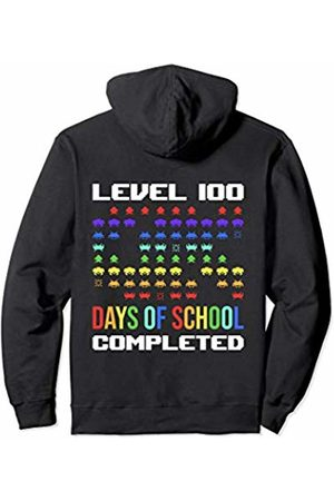 100th Day of School Shirts Co. 100th Day Of School For Kids Teacher Gamer Retro Arcade Game Pullover Hoodie