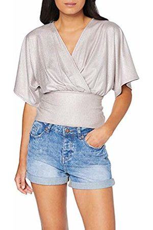 New Look Women's Shimmer Rib Wrap Blouse