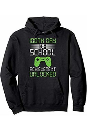 100th Day Of School T-Shirt For Kids School 2020 100th Day Of School T-Shirt For Kids Game Achievement Unlock Pullover Hoodie