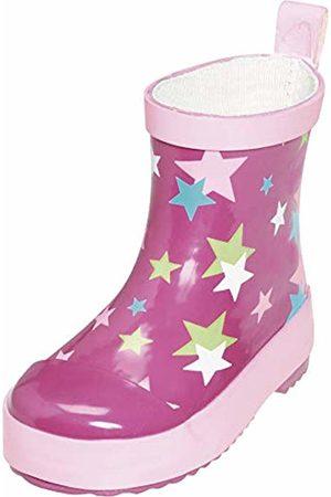 Playshoes Unisex Kid's Wellies Rain Stars Wellington Rubber Boots, ( 18)