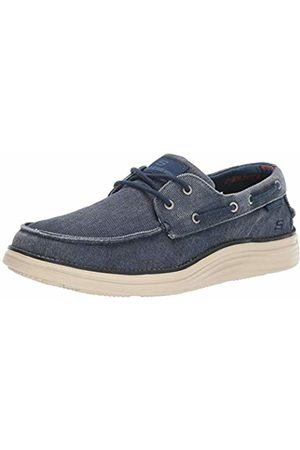 Skechers Men's Status 2.0 LORANO Boat Shoes, (Navy Canvas NVY)