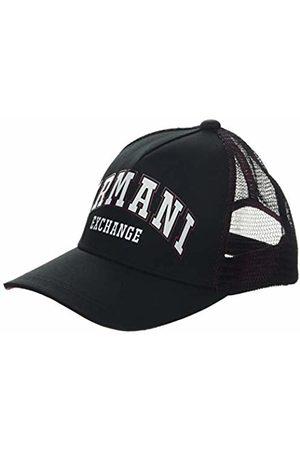 Armani Men's Logo Patch Trkr-mesh Baseball Cap