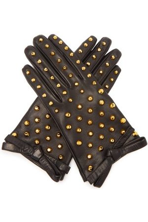 Prada Stud-embellished Leather Gloves - Womens