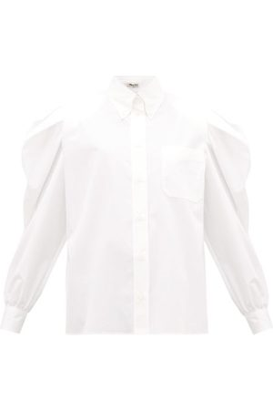 Miu Miu Puff-sleeve Cotton-poplin Shirt - Womens