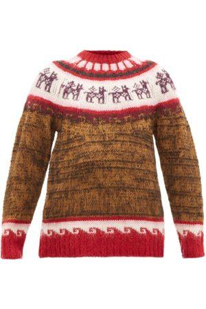 Miu Miu Alpaca-jacquard Sweater - Womens - Multi