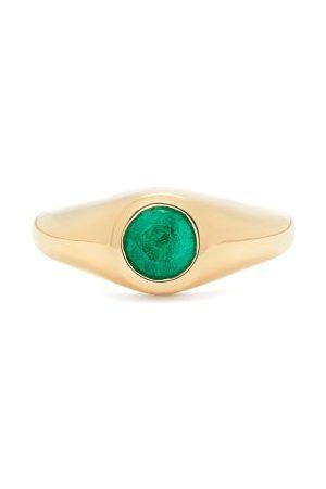 Lizzie Mandler Emerald & 18kt Signet Ring - Womens