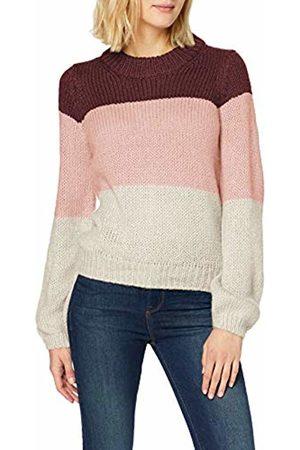 Vero Moda Women Sweatshirts - Women's Vmwine Block Ls O-Neck Blouse Boo Jumper