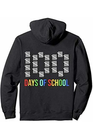 100th Day of School Shirts Co. 100th Day Preschool Gift For Girls Boys 100 Days Of School Pullover Hoodie