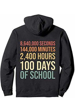 100th Day of School Shirts Co. 100th Day Preschool Kids Teacher Retro 100 Days Of School Pullover Hoodie