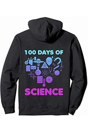100th Day of School Shirts Co. 100th Day Of School For Scientist Kids Science Teacher Heart Pullover Hoodie