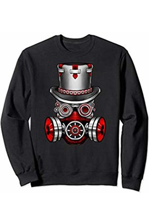 Vintage Classic Retro 80s Throwback Steampunk Art Sweatshirts - Original Teen Gear Gasmask Air Pollution Save The Planet Sweatshirt