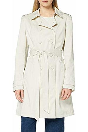 FIND Women's Trench Coat with Shoulder Epaulets, Belt, Long Sleeves and Wing Collar