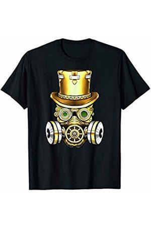 Vintage Classic Retro 80s Throwback Steampunk Art Original Teen Gear Gasmask Air Pollution Save The Planet T-Shirt