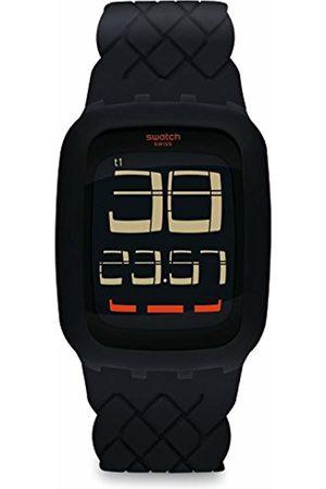 Swatch Men's Digital Quartz Watch with Silicone Strap SURB121
