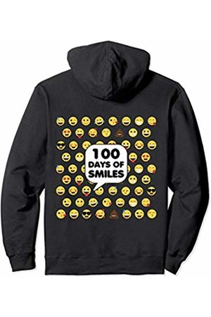 100th Day of School Shirts Co. 100th Day Of School For Girls Boys Teacher Cute Yellow Emoji Pullover Hoodie