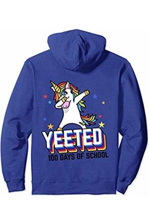 iRockstar Design 100th Day Of School Meme Yeet Unicorn Gift For Kids Teachers Pullover Hoodie