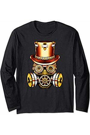 Vintage Classic Retro 80s Throwback Steampunk Art Original Teen Gear Gasmask Air Pollution Save The Planet Long Sleeve T-Shirt