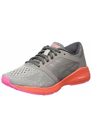 Asics Women's Roadhawk FF Running Shoes, (Carbon/ /Flash Coral)