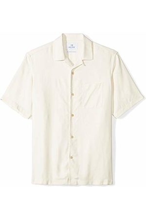 28 Palms Relaxed-fit 100% Silk Camp Shirt Natural