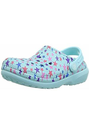 Crocs Unisex Kid's Classic Printed Lined Clog K, (Ice )