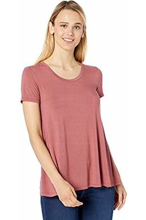 Daily Ritual Jersey Short-sleeve Scoop Neck Swing T-shirt Dusty )