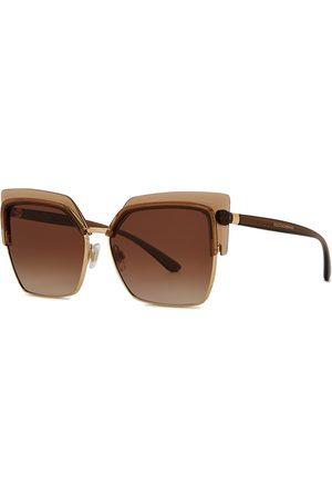 Dolce & Gabbana Gold-tone Cat-eye Sunglasses