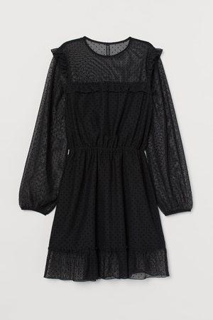 H&M Flounced mesh dress