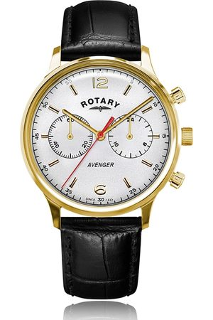 Rotary Watches Men Watches - Rotary Avenger Pvd Watch White Dial