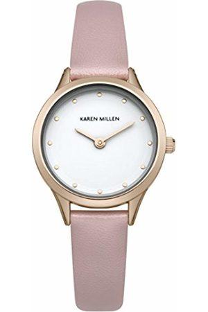 Karen Millen Women's SKM001P Quartz Watch with Dial Analogue Display and PU Strap