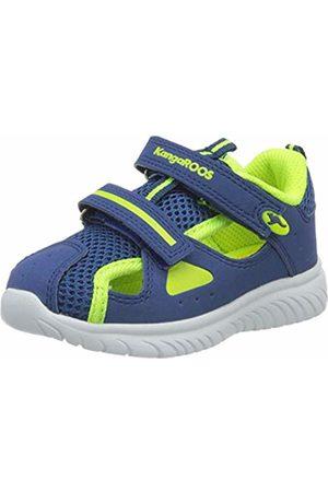 KangaROOS Trainers - Unisex Babies' Ki-Rock Lite V Low-Top Sneakers, (Navy/Neon 4137)