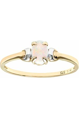 Citerna 9 ct and Opal Birth Stone Ring - Size M